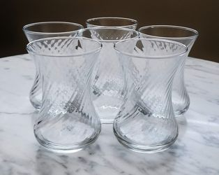 Set of 6 Small Turkish Hot Tea Glasses for Sale in Cape Coral,  FL