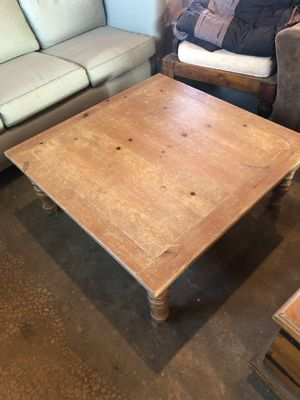 Square Wood Coffee Table for Sale in Murrieta, CA