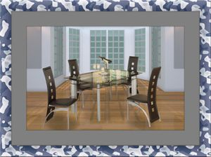 Glass dining table with 4 chairs for Sale in Alexandria, VA