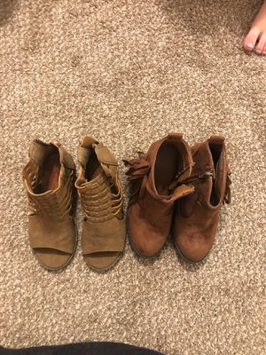 Girls heeled boots size 12c for Sale in Kuna, ID