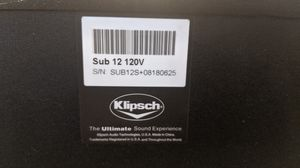 "Klipsch Subwoofer 12"" KSW-12 Home Theater for Sale in Chino, CA"