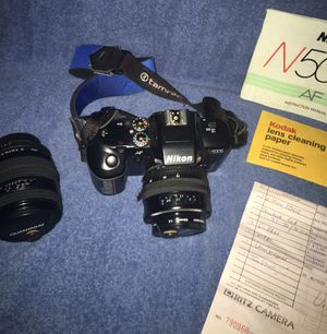 Nikon Camera w/ Lenses - Excellent Cobdition for Sale in Fox Lake, IL
