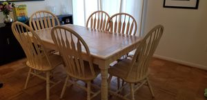 Kitchen table with 6 chairs for Sale in Wheaton, MD
