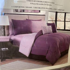 LATTICE 9pc QUEEN Comforter Set for Sale in Ontario, CA