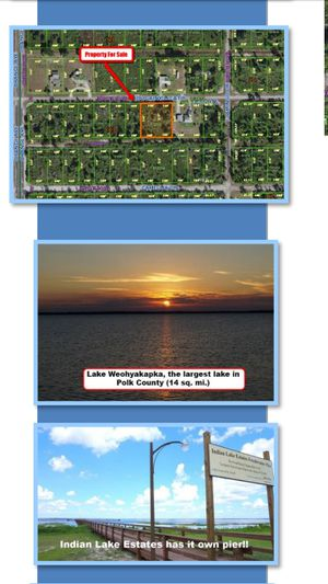 1 ACre BUILDABLE,2 house's or 1 /trade for rv or antique car.... for Sale in Lake Wales, FL