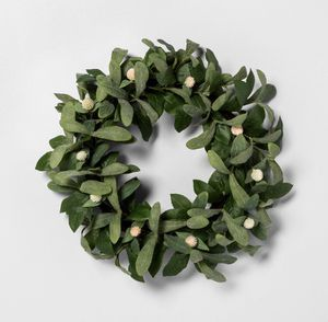 "20"" Faux Globe Thistle Wreath - Hearth & Hand with Magnolia for Sale in Los Angeles, CA"