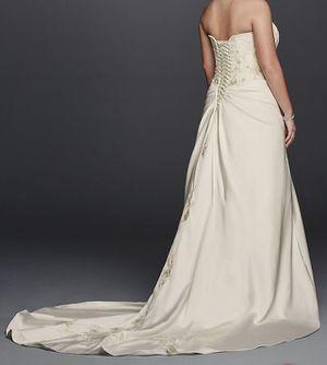 Local Pickup Only: David's Bridal Satin A-line Plus Size Wedding Dress for Sale in Wichita, KS