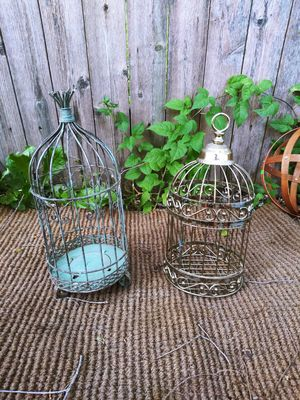 "Vintage Metal Bird Cages! 20$ Each! 14"" H for Sale in Joliet, IL"