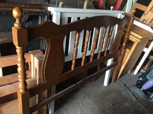 Full size headboard solid wood for Sale in Corpus Christi, TX