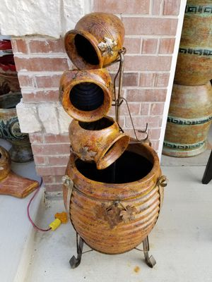 Honey Comb WATER FOUNTAIN (Clay Pots) for Sale in Wylie, TX