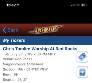 Chris Tomlin concert tickets for Sale in Amarillo, TX
