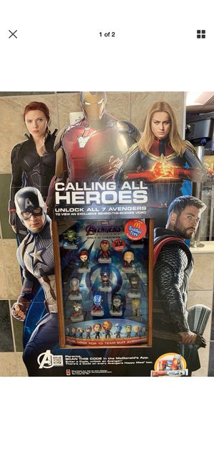 McDonald's 2019 avengers end game marvel toy collection full set of 24 condition brand new for Sale in Fort Worth, TX