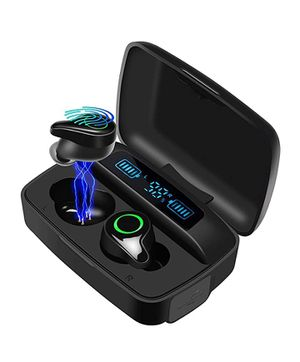 Waterproof Wireless Earbuds, Wireless Headphone 156H Playtime Hi-Fi Stereo Sound, w/Mic LCD Digital Display 2200mAh Rechargeable Case for Sale in Rialto, CA