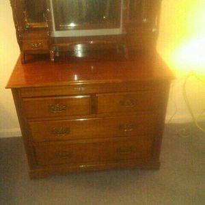 Pending. Sale. .4 Drawer/ Mirror Mahogany Dresser for Sale in Manassas, VA