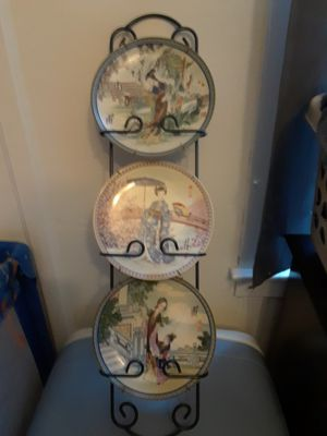 Asian glass plate set for Sale in Detroit, MI
