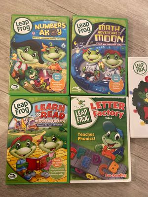 Leap frog educational videos. Math, reading and social development. for Sale in Pembroke Pines, FL