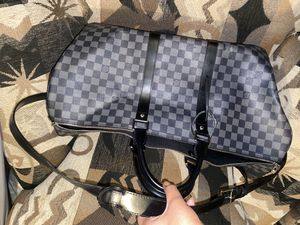 Louis Vuitton Keepall Bandouliere 55 Travel Bag - Damier Graphite for Sale in Federal Way, WA