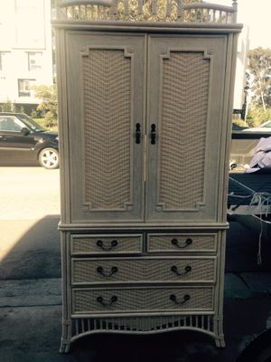 Made by Flcks Reed Beautiful piece of furniture dresser cabinet you can use as a TV Consol top part or shelving the two doors were open up and slide for Sale in San Diego, CA