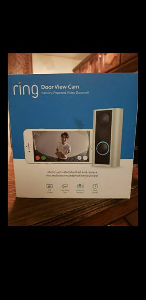 Ring 1080p HD Wireless Peephole Cam Door Bell for Sale in Riverside, CA