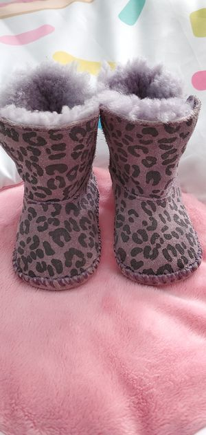 UGG GIRLS PURPLE CHEETAH LEOPARD BOOTS BABY TODDLER CASSIE for Sale in Chicago, IL