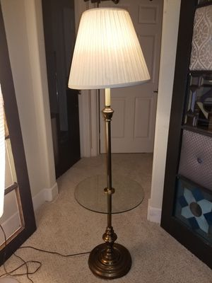 Bronze Floor Lamp w/Built in Glass Table for Sale in Austin, TX