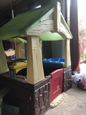 Playhouse + ride puppy + toddler slide for Sale in Kalamazoo, MI