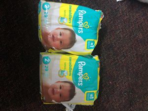 Pampers diapers size 2 for Sale in Mesquite, TX