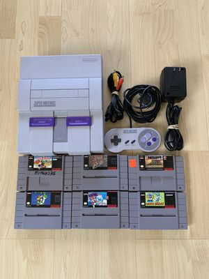 Super Nintendo SNES with 6 Game for Sale in Chino Hills, CA