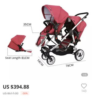 Double baby stroller for Sale in Anaheim, CA