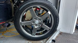 4 Chrome 5 Spoke rims with Falken All season tires for Sale in Brockton, MA