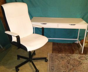 Heavy duty desk and swivel chair for Sale in Port Neches, TX