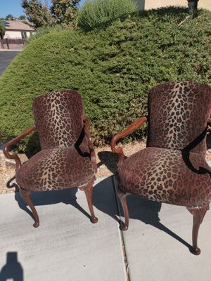 Antique Queen Ann Animal Print (Leopard) Chairs for Sale in Henderson, NV