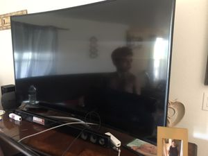 "Samsung 65"" curve tv (FOR PARTS) for Sale in Fort McDowell, AZ"