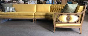 Vintage 2 piece sectional sofa couch for Sale in Chicago, IL