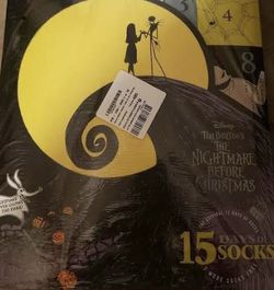 15 Days Of Socks The Nightmare Before Christmas for Sale in Hesperia,  CA