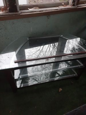 Glass TV stand for Sale in Terre Haute, IN