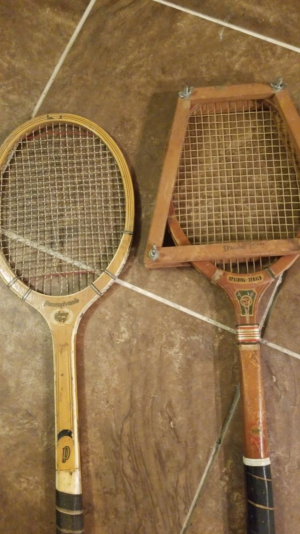 Spalding and Pennsylvania vintage tennis rackets