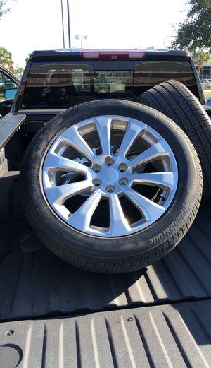 "Bridgestone 22"" Chevy Chrome Wheels Set for Sale in Port Arthur, TX"