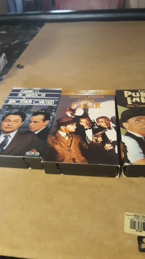 Lot of 3 gangster movies VHS form for Sale in Berwyn, IL