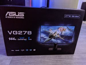 Asus VG278 27' Monitor for Sale in Bellevue, WA