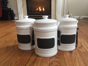 Modern farmhouse ceramic canisters for Sale in Frederick, MD