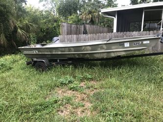 14 ft Jon boat with trailer for Sale in Edgewater,  FL