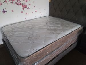 New queen mattress and box spring FREE DELIVERY ....BED FRAME SOLD SEPARATELY for Sale in Las Vegas, NV