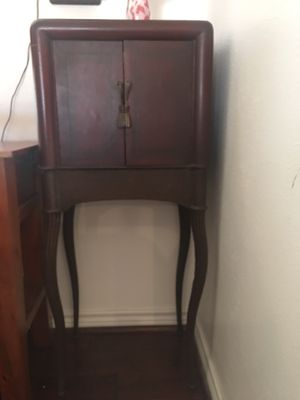 Antique cabinet with iron legs for Sale in Garland, TX