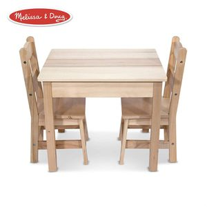 """Melissa & Doug Solid Wood Table & Chairs (Kids Furniture, Sturdy Wooden Furniture, 3-Piece Set, 20"""" H x 23.5"""" W x 20.5"""" L) for Sale in Carrollton, TX"""