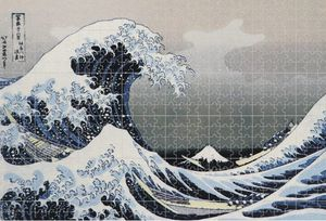 1000pc Jigsaw Micropiece Puzzle Ocean Wave Classic Artwork for Sale in El Monte, CA