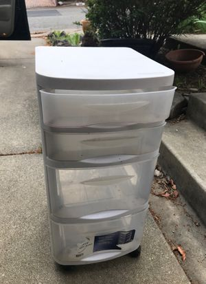 4 drawer rolling plastic organizer for Sale in Martinez, CA