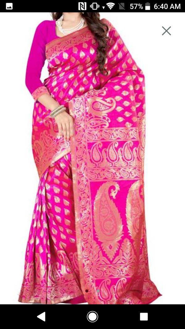 Banarashi silk saree with blouse