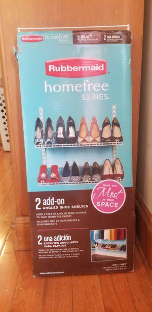 New shoe shelves for closet for Sale in Cartersville, GA