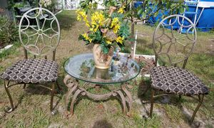 Two Iron Chairs with Table for Sale in Altamonte Springs, FL